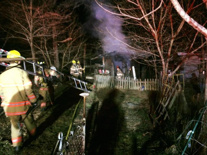 Shed Fire 13000 Stewartsville Rd